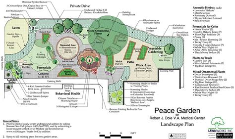 nursery facility layout dole va memorial peace garden robert j dole va medical