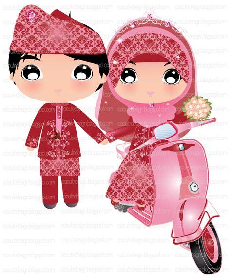 gambar baju pengantin kartun gambar hasil gambar kartun pernikahan islami hitam putih