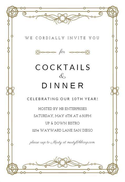 Classic Border   Business Event Invitation Template (Free