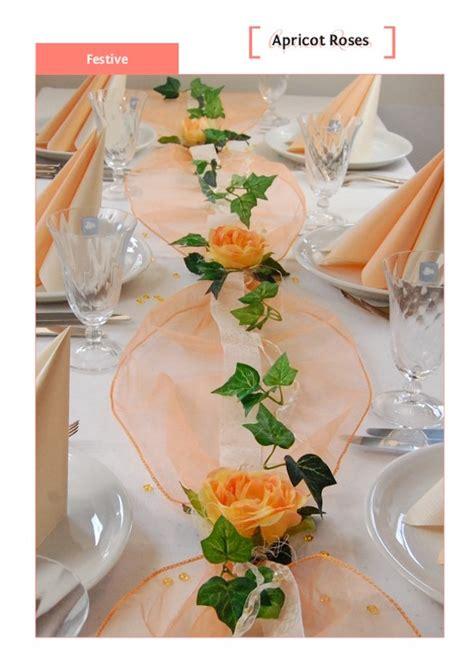 Tischdeko Hochzeit Apricot by Deko Hochzeit Apricot Execid