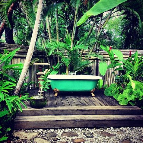 outdoor bathtub 27 best images about outdoor bathrooms on pinterest