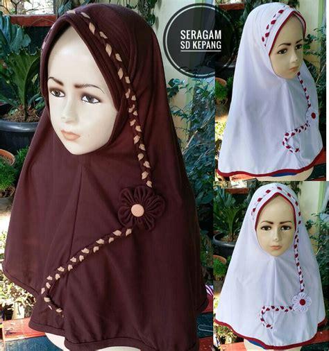 jilbab sekolah seragam sd kepang sentral grosir jilbab
