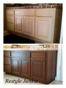 Staining Kitchen Cabinets Darker Before And After by Choosing The Right Dark Gel Stain Java Gel Stain Vs