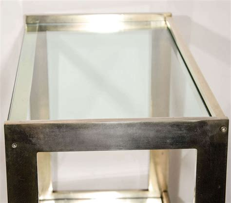 brass bar top modern two tier italian brass bar cart and server with