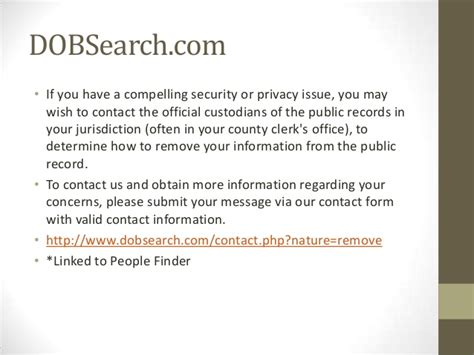 Dobsearch Records Remove Your Personal Information From Websites