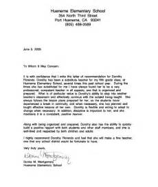 Recommendation Letter For Middle School Student Recommendation Letter Sle For From Student Http Www Resumecareer Info