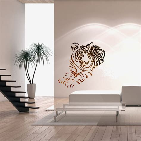 wall stencils  diy decor rooms kids template tiger