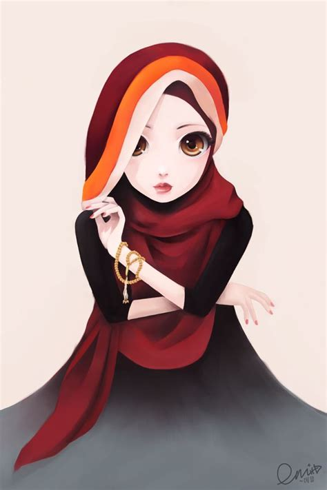 wallpaper animasi hijab 59 best hijab animasi images on pinterest anime muslim