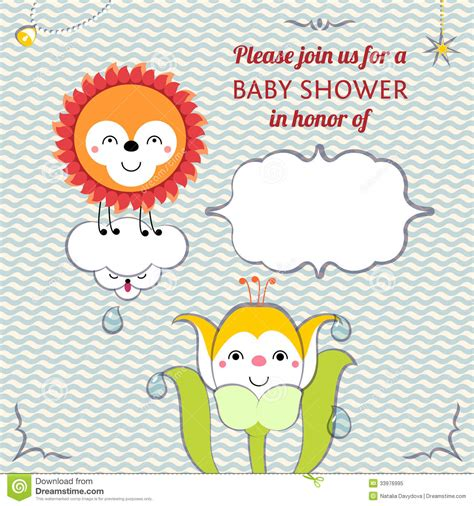 small card template kawaii baby shower invitation card editable template funn stock