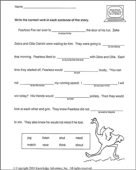 printable english worksheets 2nd grade 16 best images of verbs and helping verbs worksheet