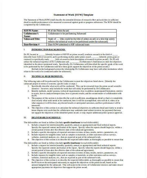 procurement statement of work template work statement exle christopherbathum co