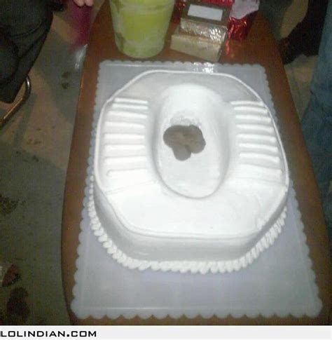 bday bathroom toilet shaped birthday cake lol indian funny indian pics and images