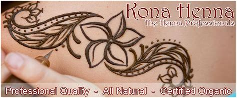 hawaiian flower henna tattoo kona henna professional henna kits and world
