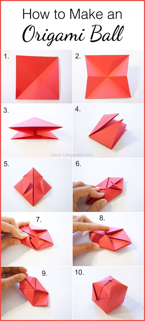 How To Make An Origami Sphere - origami apple favor one woof