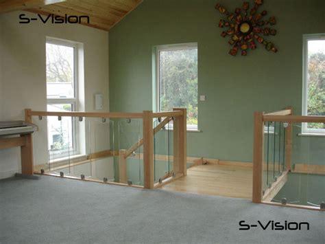 glass landing banister s vision glass balustrading oak handrail with glass toughened glass