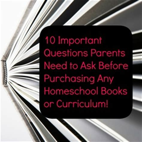 ask for purrfect advice books important questions to ask when purchasing any homeschool