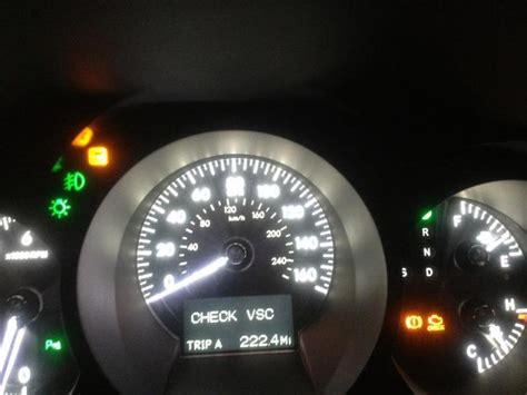 Lexus Gs430 Check Vsc Light