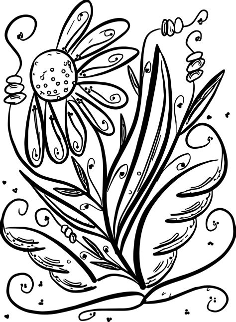 coloring pages summer flowers floral summer flower coloring page wecoloringpage