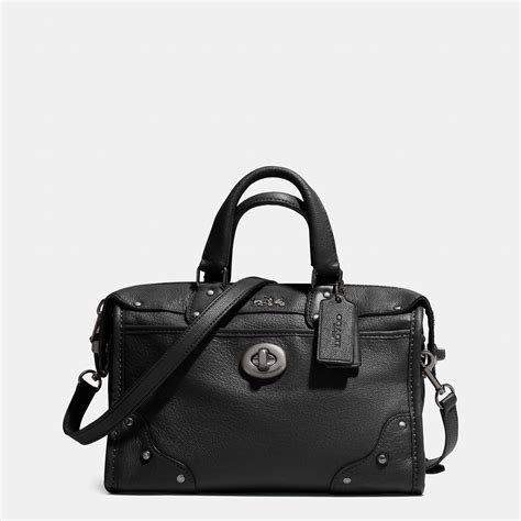 Coach Leather Satchel by Coach Rhyder 24 Satchel In Leather In Black Lyst