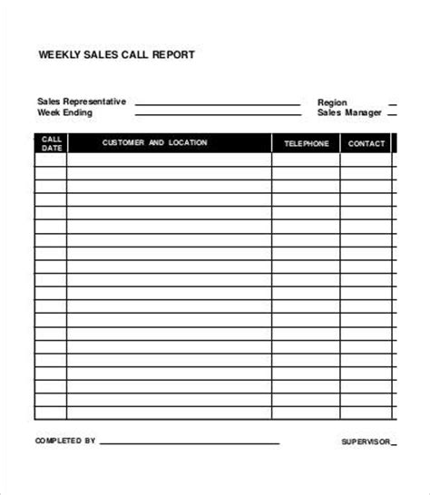 sales rep call report template call report template 23 free excel