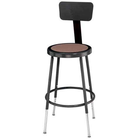National Seating Stool by National Seating 6218hb 10 18 Quot Adjustable Black