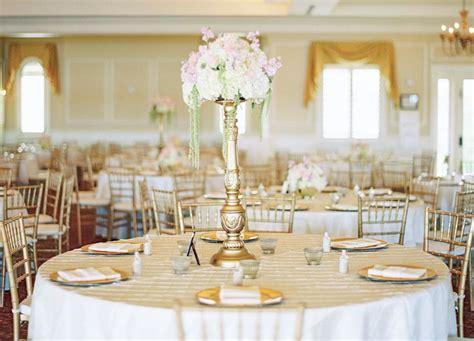classic theme wedding reception set up with blush