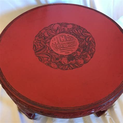 red lacquered ming style coffee table chairish