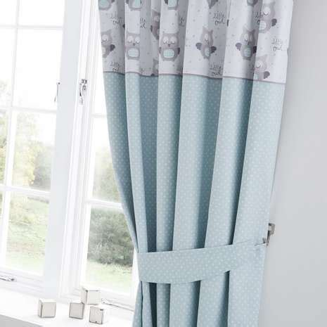 Owl Nursery Curtains Owls Nursery Blackout Pencil Pleat Curtains Dunelm