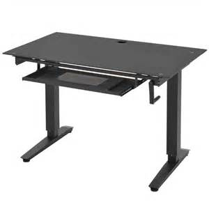 adjustable stand up desk glass in desks and hutches