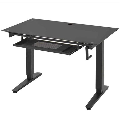 adjustable standing desk workstation adjustable stand up desk glass in desks and hutches