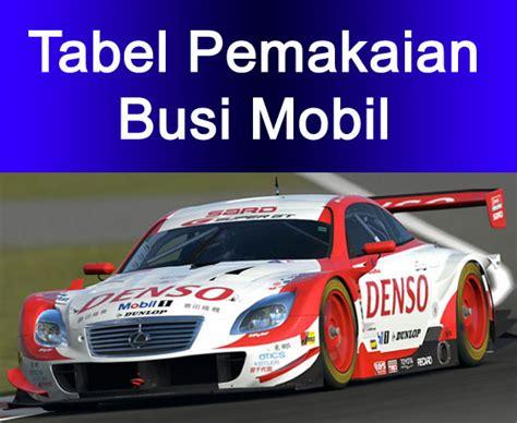 Busi Racing Iridium Denso Mobil tabel pemakaian busi mobil densocentra