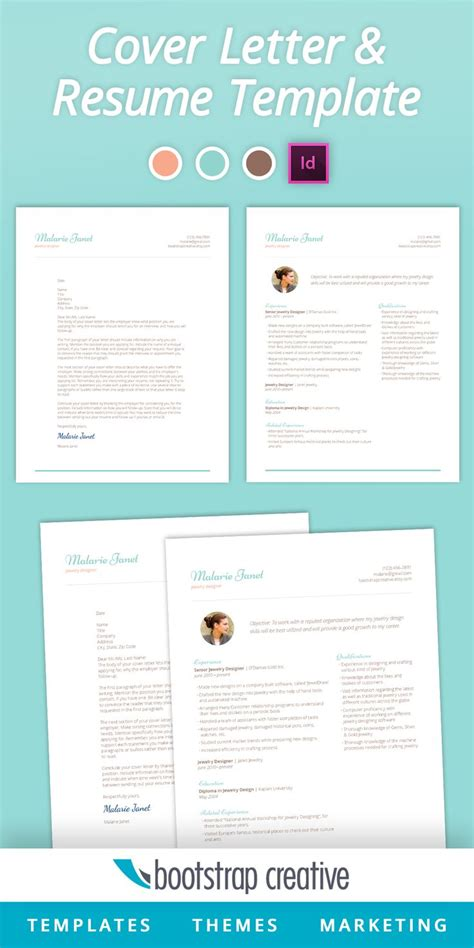 Cover Letter Template Adobe Indesign And Letter Templates On Pinterest Indesign Letter Template