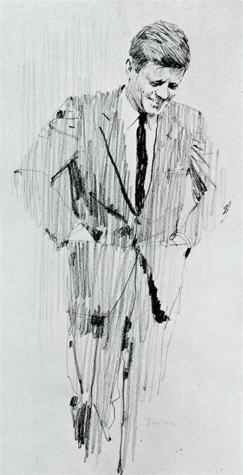 I Pencil Sketches by Drawing F Kennedy By Bernie Fuchs My