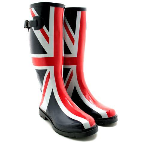 mens funky wellington boots new womens festival welly wellies wellington flat knee