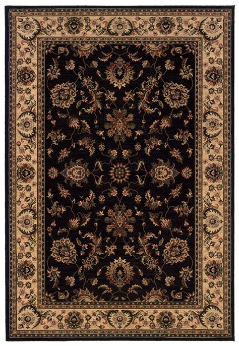 black rug oriental weavers sphinx ariana 311k3 black rug