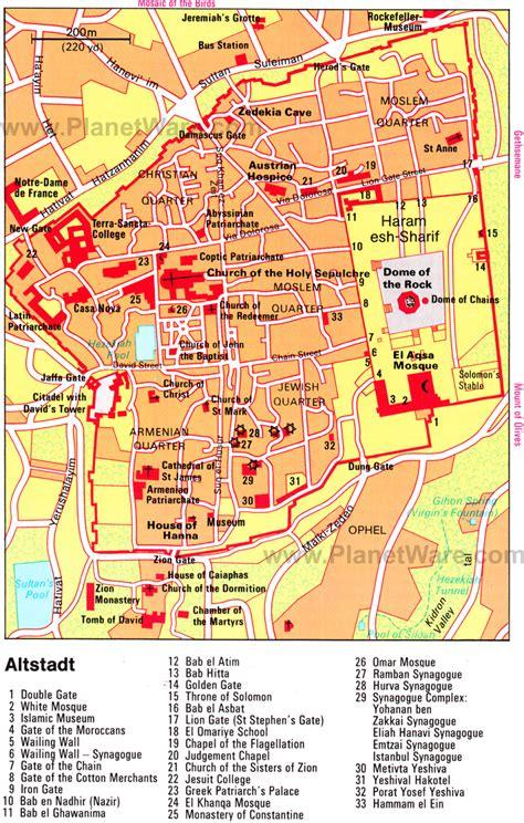 jerusalem israel map jerusalem map
