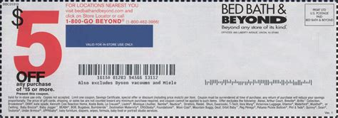 bed bath an beyond bed bath and beyond coupon 20 off one single item online