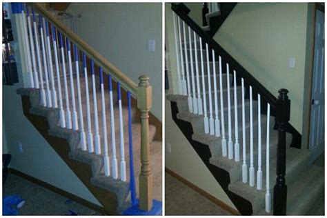 gel stain banister java gel stain banister upgrade get rid of the builder