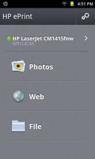 hp printer app for android hp eprint apk for android