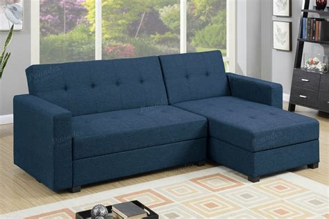 navy fabric storage sectional sofa