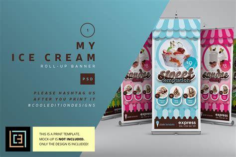 design banner ice cream my ice cream roll up banner flyer templates on