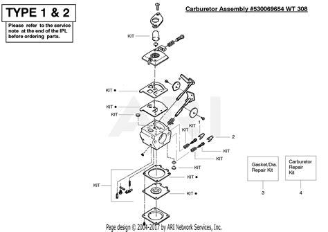 poulan pe gas edger type  parts diagram  carburetor