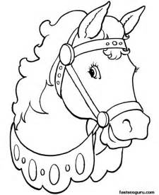 Coloring pages animal beautiful horses printable coloring pages for