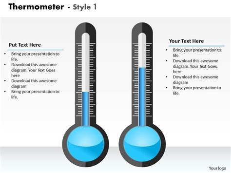 0414 Thermometer Column Chart To Display Data Powerpoint Graph Templates Powerpoint Slides Thermometer For Powerpoint
