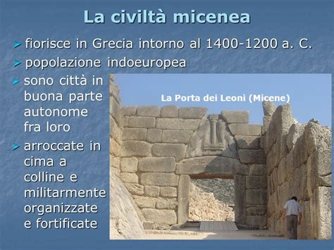 la porta dei leoni la civilt 224 micenea francesco toscano ppt