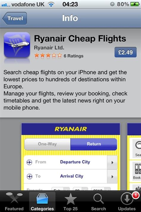 ryanair mobile ryanair updates its mobile app adds mobile boarding pass