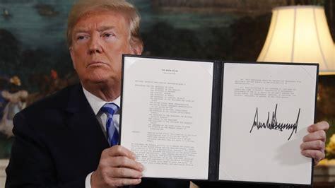 donald trump iran transcript donald trump s iran nuclear deal speech in