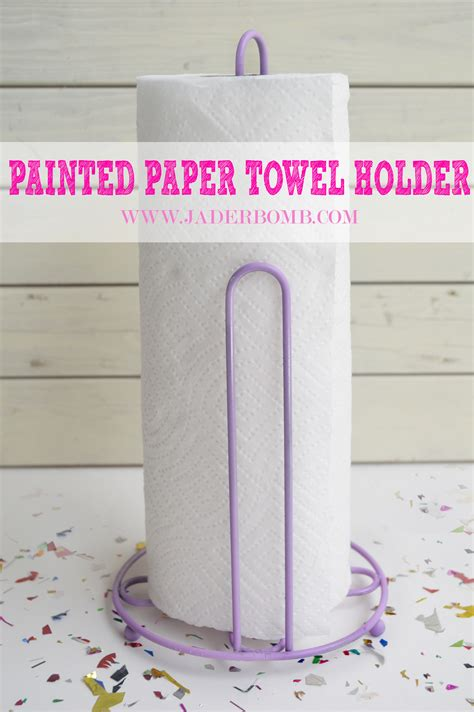 Paper Towel Holder Craft Ideas - painted paper towel holder jaderbomb