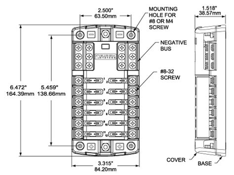 st blade fuse block 12 circuits with negative and