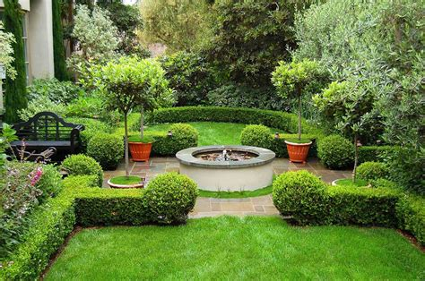 Small Mediterranean Garden Ideas Parterre Green Bench Kitchentoday